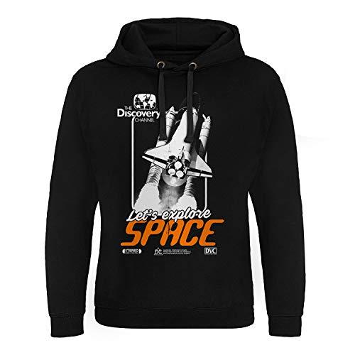 Discovery Officiellement sous Licence Channel Space Cover Epic Sweat À Capuche (Noir), XXL