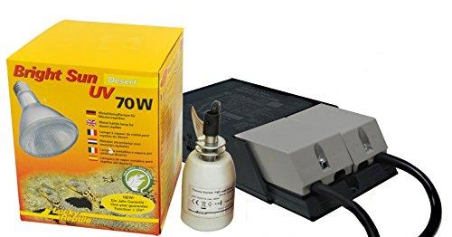 Lucky Reptile - Bright Sun UV Desert 70 W Komplettset, Metalldampflampe inklusive passende Fassung und Vorschaltgerät