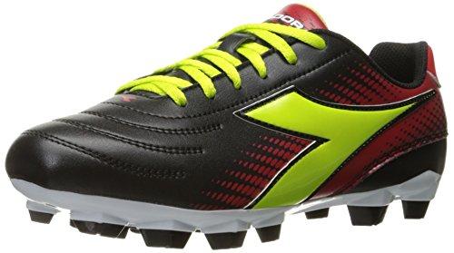 Diadora Women's Mago R W LPU Soccer Shoe, Black/Lime/Red, 7.5 M US