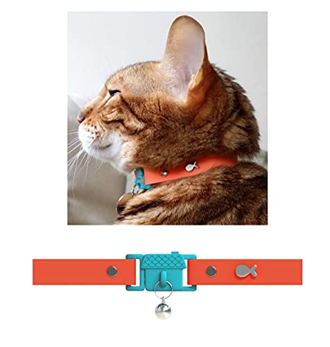 Kittyrama Cat & Kitten Collars. As Seen in Vogue. Award Winning. Vet Approved. Breakaway, Hypoallergenic, Comfy & Soft. Tangerine. Other Styles Available