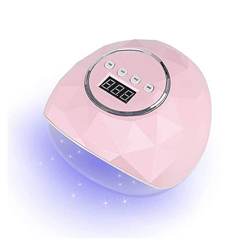 Secador de uñas con Gel de luz LED de Clavo y Pulido Regular Peluquero Profesional Curing Light con configuración de Tiempo Sensor Inteligente (Rosa) Secador de uñas (Color : Pink)