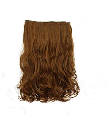 XHCP Wig 40cm Fashion Long Curly Hair Extension - Light_Brown Cosplay Costume Anime Wig