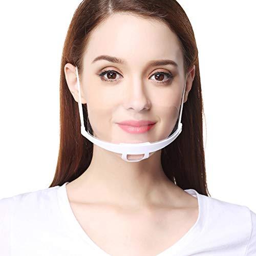 AIEOE 10pcs Mund und Nasenschutz Transparent Plastik 8cm Gesichtsvisier Waschbar PVC Visier Gesichtsschutz