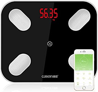 LUZAISHENG Kitchen Food Scale Measurement GASON S4 Body Fat Scale Smart Electronic LED Digital Weighing Scale with Bluetoo...