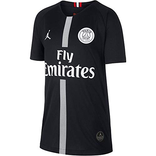 NIKE Paris Saint-Germain Air Jordan Kids' Third Jersey 2018-2019 Black (Youth Medium)