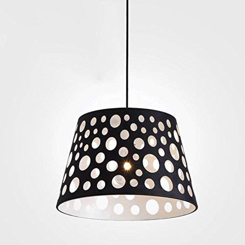 ZYY éclairage nordique moderne simple lustre simple tête lustre de forage lustre extérieur le noir et blanc