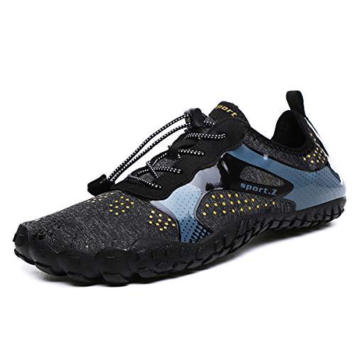 DoGeek Scarpe da Nuoto Water Shoes Scarpe per Sport Acquatici Scarpe Nero Giardini Acqua Scarpe Uomo da Pantofole Spiaggia
