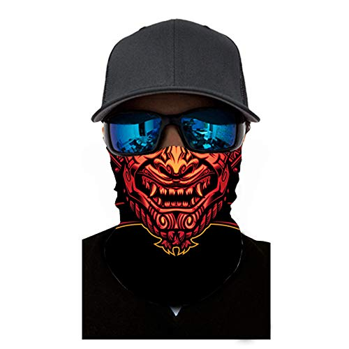 Unisex Quick-Dry Face Scarf Neck Gaiter Headband Breathable Face Bandana Balaclavas for Outdoor Sports (Orange)