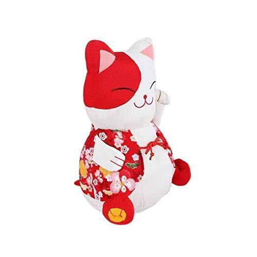 lachineuse Chat Japonais en Tissu - Teinte Rouge