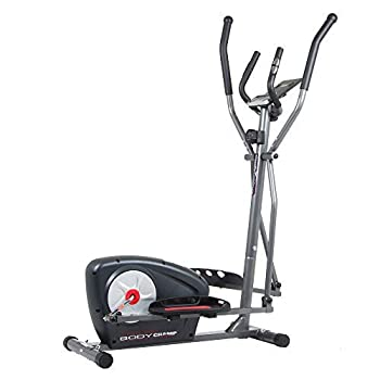 Body Champ New Elliptical Machine Trainer Magnetic Smooth Quiet Driven with LCD Media Holder Monitor and Pulse Rate Grips BR2117
