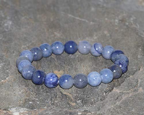 Pulsera de Aventurina Azul de 8 mm, Pulsera Minimalista de Piedras Preciosas Naturales, Pulsera de...