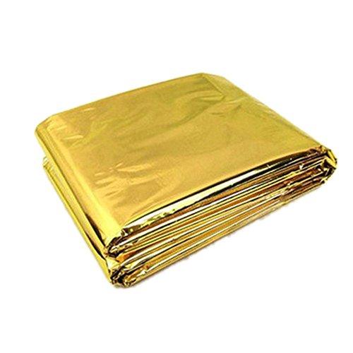 TOOGOO 210 * 130 cm Manta de supervivencia de emergencia / Manta de aislamiento externo de rescate Oro