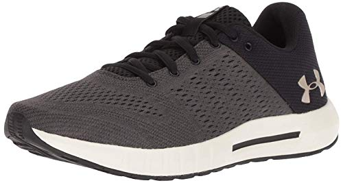 Under Armour womens Micro G Pursuit Running Shoe, Black (003)/Ivory, 9.5
