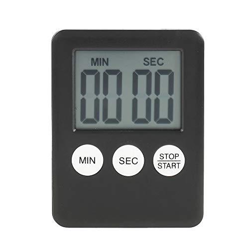 Timer da Cucina Digitale con Grande Schermo LCD Magnetico Sveglia Forte per Contaminuti Egg Timer Kitchen Timer (Nero)