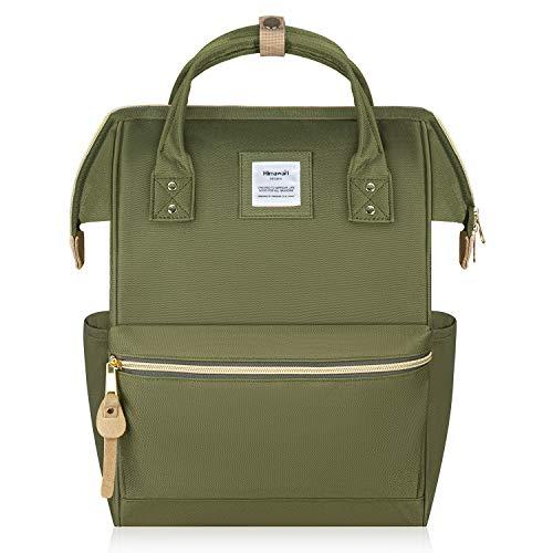 Hethrone Damen Rucksack Laptop Backpack 15,6 Zoll Wasserdicht Schulrucksack Anti Diebstahl Tagesrucksack ür Schule Uni Reisen Freizeit Job mit Laptopfach Armee-Grün