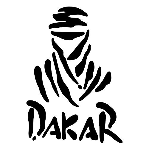 Custom Vinyl Pegatina Rally Dakar (14,5x10,5 cm) (Gris)