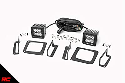 Rough Country Custom Dual LED Cube Fog Light Kit Compatible w/ 2014-2015 GMC Sierra 1500 w/ 2 LED Cubes 70689