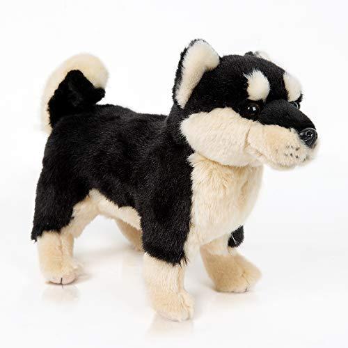 12' Black Shiba Inu Plush Corgi Pillow Cute Dog Doll Stuffed Animal Kawaii Plushies Shiba Inu for Decorate