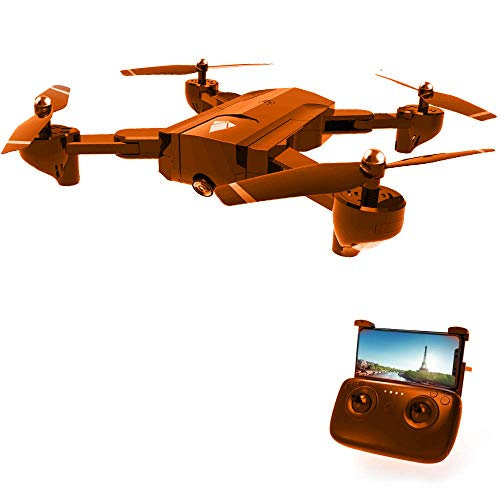 Force1 Drone with Camera Live Video- X5C 720p HD Camera Drone w/ SD Card and 2 Batteries for 5.8Ghz FPV Quadcopter Stunt Drones with Camera for Adults and Kids