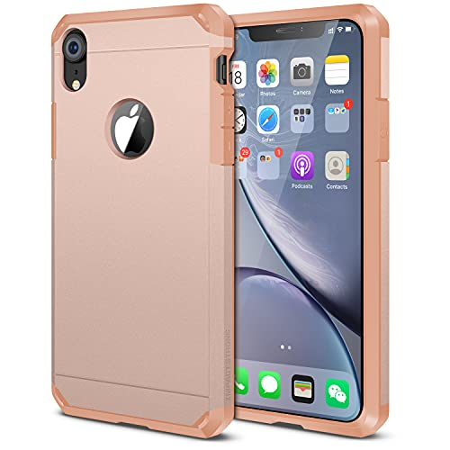 iPhone XR Case, ImpactStrong Heavy Duty Dual Layer Protection Cover Heavy Duty Case for iPhone XR 2018 6.1 inch (Rose Gold)