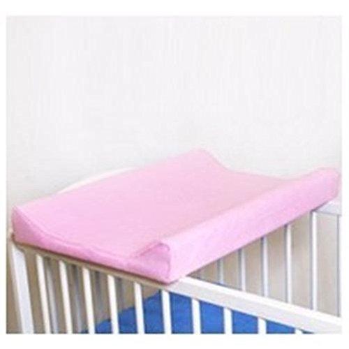 Sábana ajustable / funda para cambiador de bebé 70 x 50 cm con bordes elevados - rosa