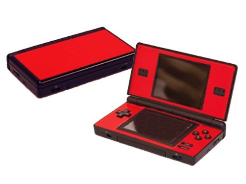 Rockin Red Vinyl Decal Faceplate Mod Skin Kit for Nintendo DS Lite (DSL) Console by System Skins