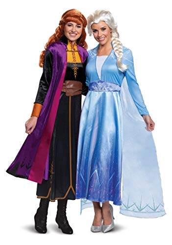 Disguise Women's Disney Elsa Frozen 2 Deluxe Adult Costume, Blue, Small