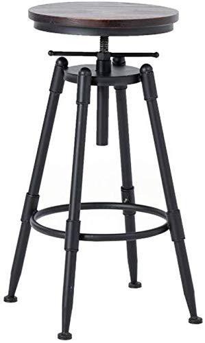 WWW-DENG barkruk, metaal, industriële kruk met rugleuning, in hoogte verstelbaar, voor binnen, rotatie, kruk, teller, kruk, stoel, hoge kruk, stoel, barkruk