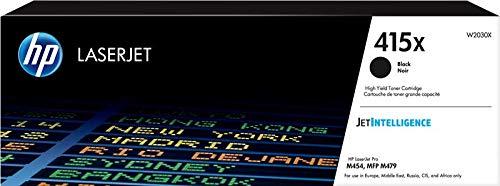HP 415X W2030X, Cartuccia Toner Originale, ad Alta Capacità, da 7500 Pagine, per Stampanti HP Color LaserJet Serie Pro M454 e M479, Jetintelligence, Nero