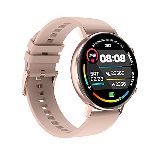 Smart Watch DT96 Pulsera de Fitness Hombres Mujeres SmartWatch Deporte Monitor de Ritmo cardíaco a Prueba de Agua para Android iOS,D