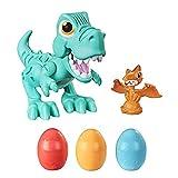 Play-Doh Juguete Rex el Dino glotón niños a Partir de 3 años con Sonidos de Dinosaurio y 3 Huevos