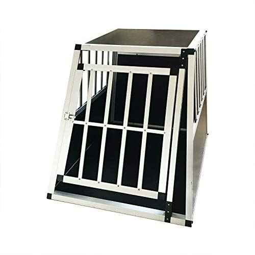LD-Handel Hundebox Transportbox Gitterbox Alu Hundetransportbox Reisebox Alu Box DC-ALU-0-6585N 85x65x65cm