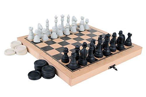 Jogo Xadrez e Damas Colegial Rei Carlu Brinquedos