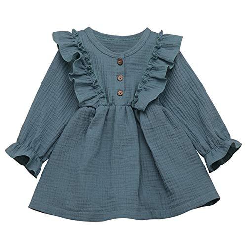 Borlai avondjurk voor kinderen en meisjes, lange mouwen, modieuze jurk met plooiband, elegante jurk voor meisjes