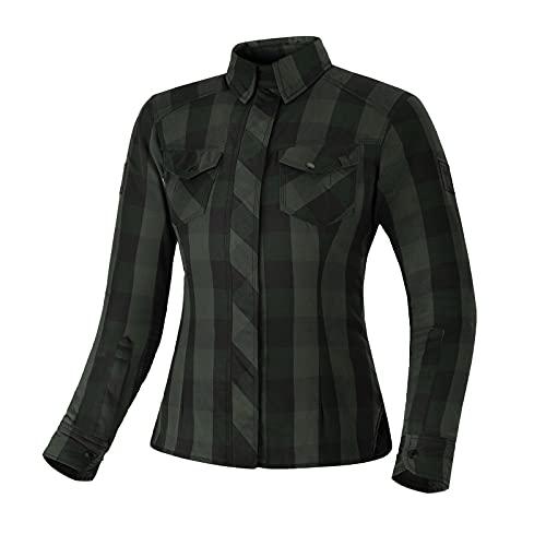 SHIMA RENEGADE LADY Camisa Moto Mujere - Chaqueta Moto de Algodóncon con Capa...