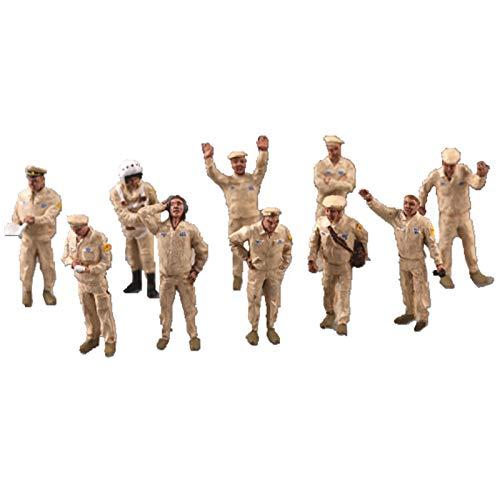 1:72 Painted Figures Tripulación de Tierra Rusa WW2 Soldier Diorama Accessories Diorama Miniature Landscape Wargame Scenery Supplies Diy Layout Miniature Battlefield Landcape Scenery
