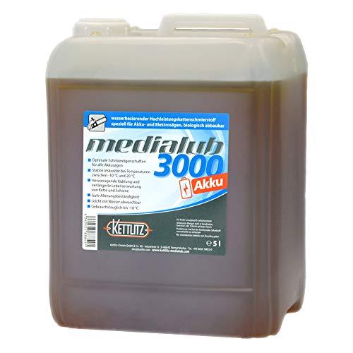 5 liter / 5 l KettLITZ-Medialub 3000 accu voor accu en elektrische zagen - biologische zaagkettingolie op waterbasis - Made in Germany