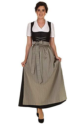 Turi Landhausmode Damen Dirndl Schürze festlich Trachtenschürze geblümt D929015 Sandra lindgrün Gr.L