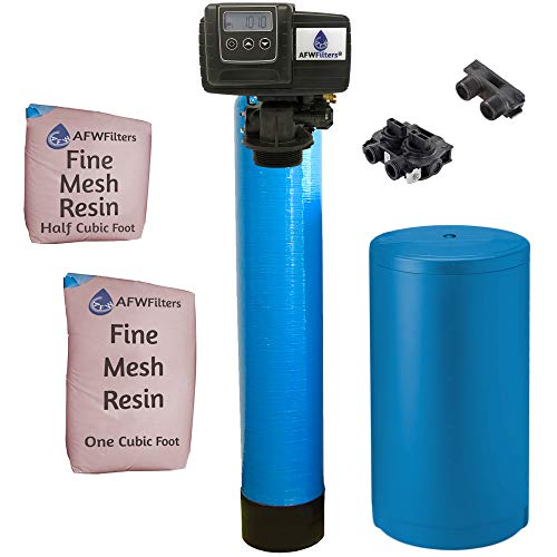 AFWFilters IRONPRO2 Pro 2 Combination Water Softener Iron Filter Fleck 5600SXT Digital metered Valve for Whole House (48,000 Grains, Blue)