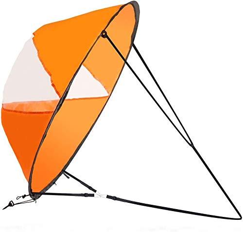 Zealhot Kajak Wind Segel 42 Zoll Kit Kajak Kayak Paddle Board Zubehör, einfache Einrichtung und schnelle Bereitstellung (Orange)