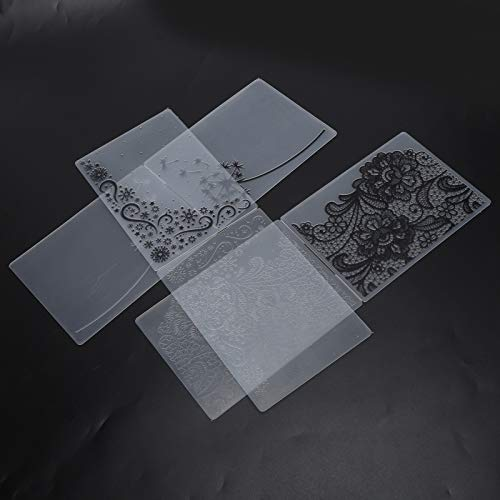 Embossingsjabloon, Plastic Embossingmappen DIY Embossing Folder Duurzame Embossing Folders Reliëfeffect voor Embossing Machines