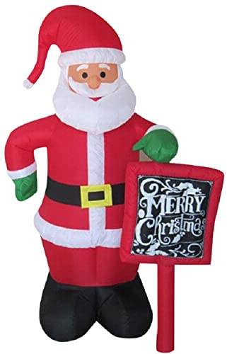 LOJALS Adornos De Decoración Signo Modelo Inflable 3M Padre Santa Inflable Festival De Navidad Festival Props Impermeable para El Hogar Home Garden Bar