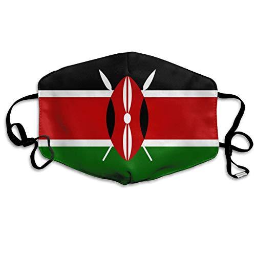 Afrika Vlag van Kenia Snelle Droge Gezicht ma-sk Verstelbare Oorlussen Ademende Herbruikbare Outdoor Mond Cover Dust ma-sk voor Volwassenen Kinderen