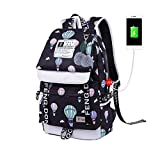 Boy Girl Student Bag USB Anti-Theft Backpack
