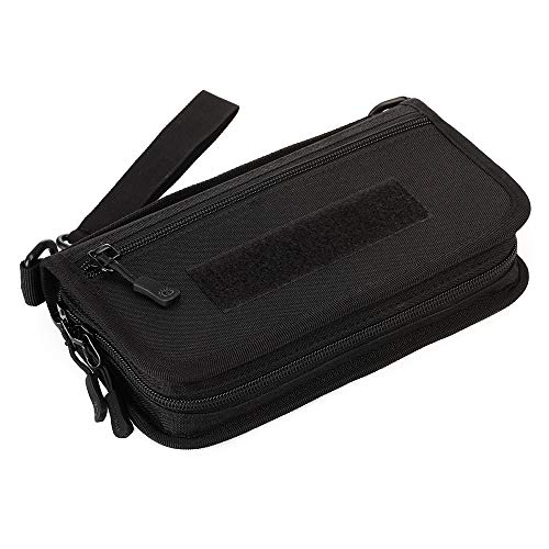 N\A Multi-Purpose Molle Pouch Utility Tools Outils Organisateur Waist Belt Ceinture Étanche Sports Easy Carry Nylon 6-in Men Men Wallet for Work, School, Camping, Hunting, Running, Hiking, Biking
