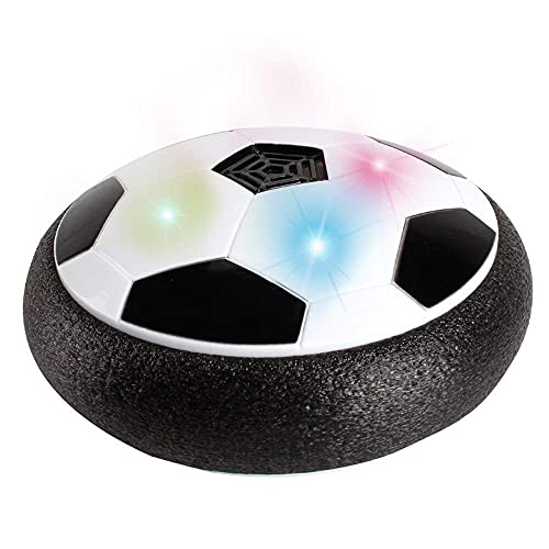 AKSHARAM AHAM Floating Air Football with Foam Bumpers and Colourful led Lights   Ruff and tuff Sport Toys for Kid   Battery Operated Hover Soccer Ball/ Colourful Lighting Disc
