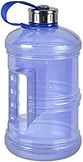 3 Liter BPA Free Reusable Plastic Drinking Water Bottle Jug Container w/Hand Holder Canteen and Stainless Steel Cap