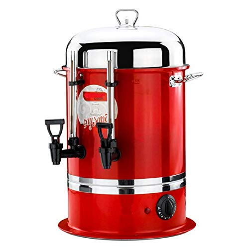 Uzman-Versand 6 Liter Teemaschine Samowar Teekanne Teeautomat Teebereiter Teespender Semaver Tee Cay Automat Teekessel Spender Teeglas Teemaschinen Elektrisch (6 Liter, Rot)