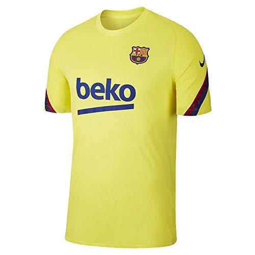 NIKE FCB BRT Strk Top SS Camiseta, Amarillo, XL para Hombre