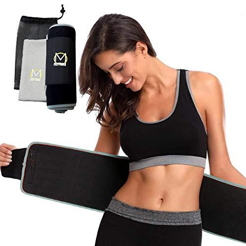 Mottise Sport Faja Reductora Adelgazante, Faja Reductora Mujer Cinturón Neopreno Abdomen Ajustable para Deporte Fitness, Ayuda Sudar. Incluye: Toalla